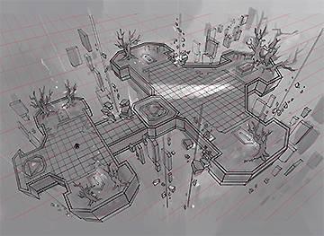 2.线稿细化—设计调整+准确的透视