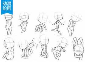 Q版萌漫人体比例及人体姿势学习大揭秘!