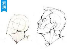 3分钟学会画侧脸手绘教程