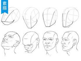 5分钟学会各角度画脸手绘教程