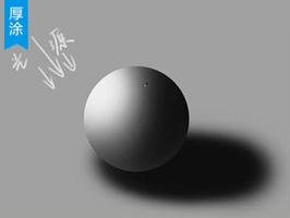 三种光源下的球体素描光影解析