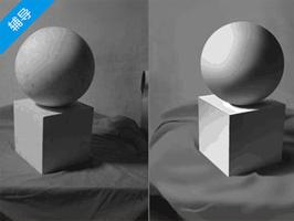 如何把握石膏几何体的明暗关系