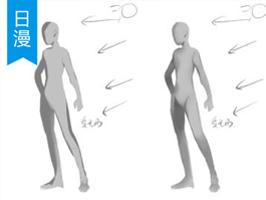 简约与写实风格的人体光影概括法