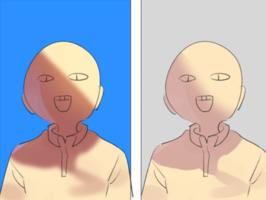 人物与背景的光影色彩小贴士
