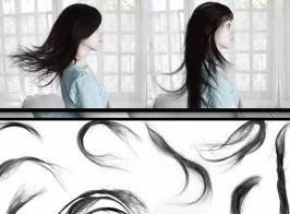 头发发型PS笔刷