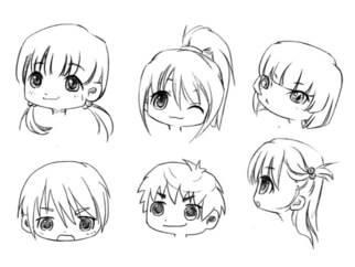 【图文教程】 不同脸型的手绘画法