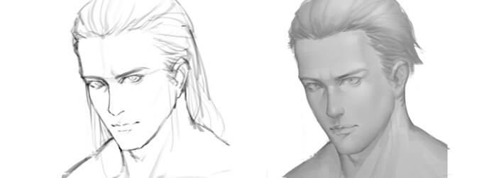 如何画一个帅气的男性头像?