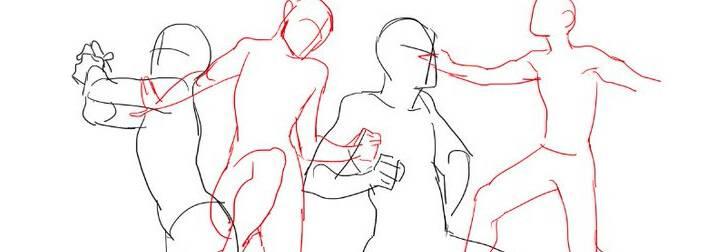 超简单人物坐姿、舞姿动态参考